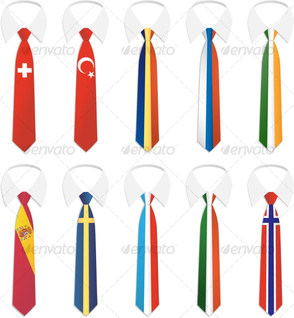 Nationality Tie 2 - Objects Illustrations
