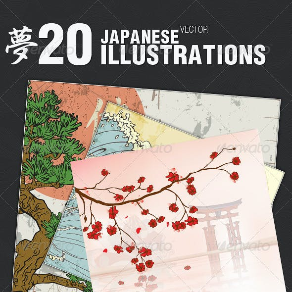 20 Japanese Vector Illustrations