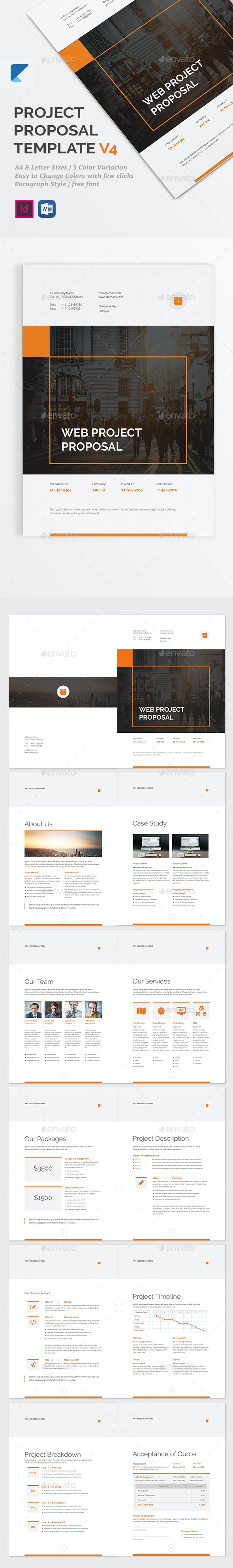 Project Proposal Template - V4 - Proposals & Invoices Stationery
