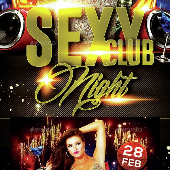 Sexy Club Night Party Flyer