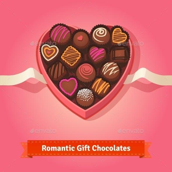 Valentine's Day, Birthday Chocolates In Box