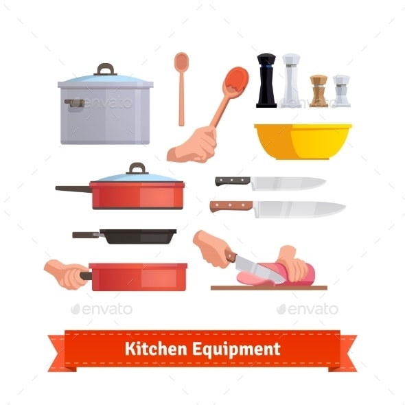 Set Of Cooking Equipment - Food Objects