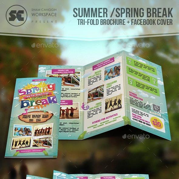 Summer / Spring Break Tri-Fold