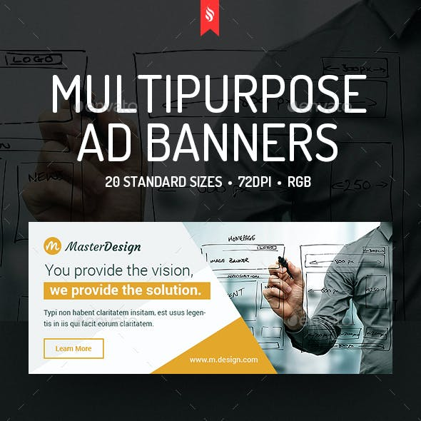 Master Design - Multipurpose Ad Banners