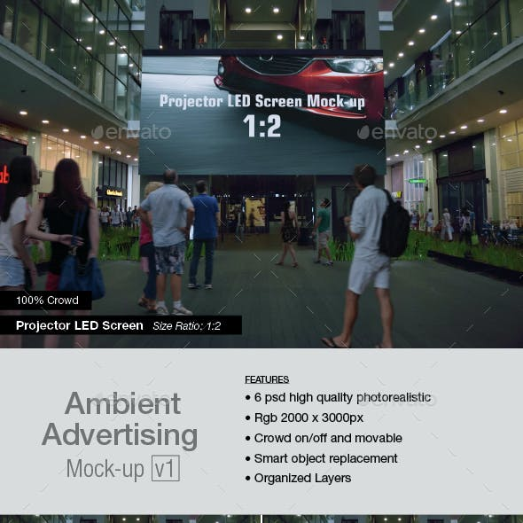 Ambient Advertising Mock-up v1
