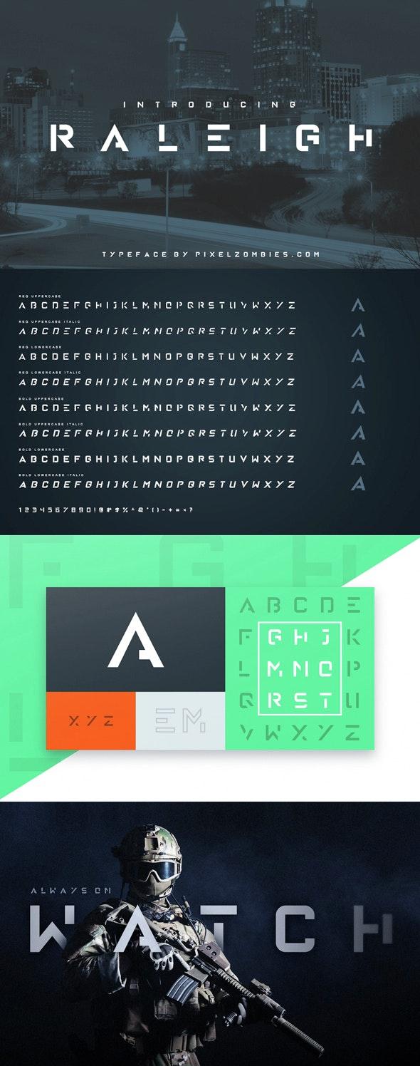 Raleigh Font - Monospaced Sans-Serif