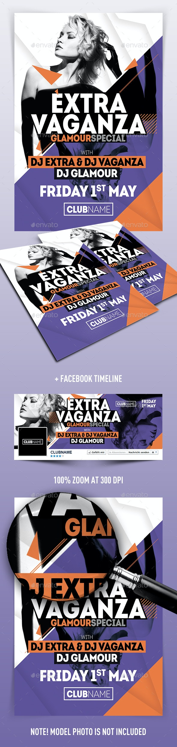 Extravaganza Flyer - Clubs & Parties Events