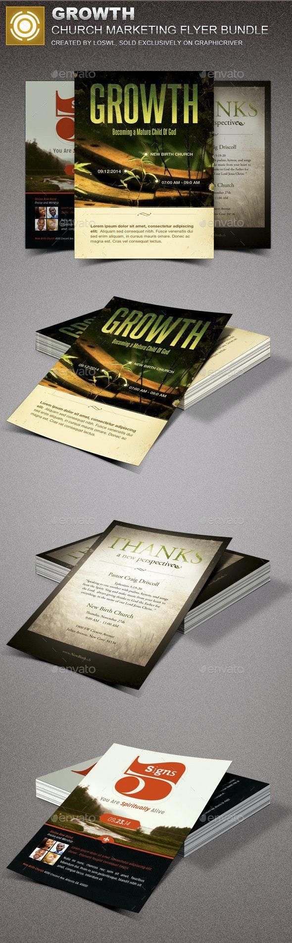 Growth Church Marketing Flyer Template Bundle - Church Flyers