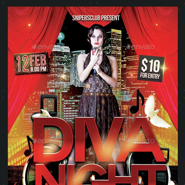 Diva Night Flyer