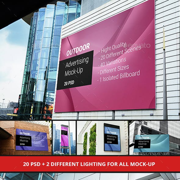 Billboard Outdoor Advertising Mock-Up