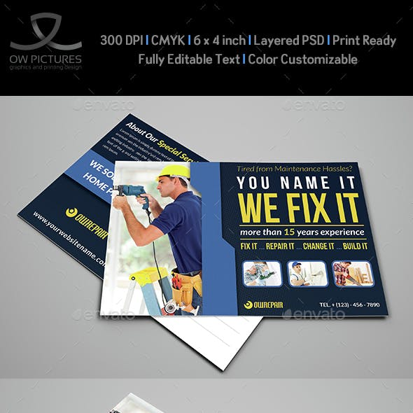 House Repair Postcard Template