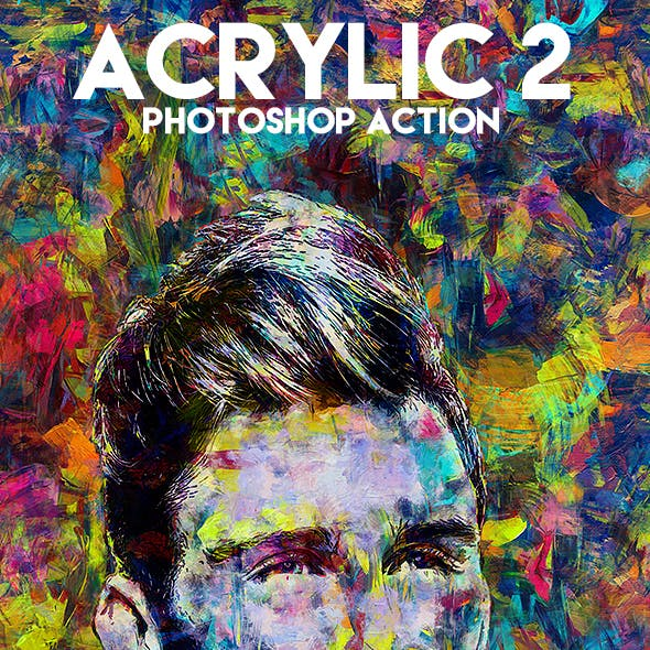 Acrylic 2 Photoshop Action