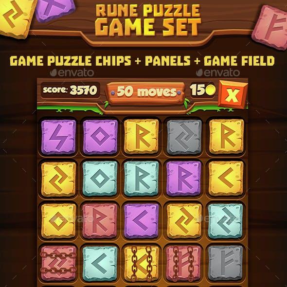 Stone Puzzle Game Set