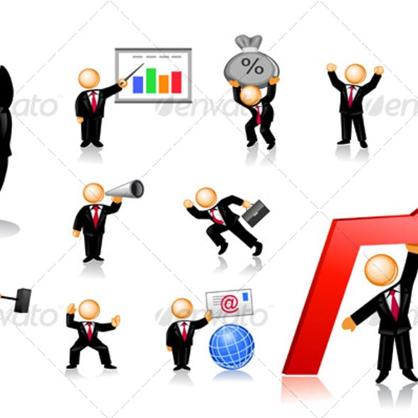 Businessmen Icon Set 2