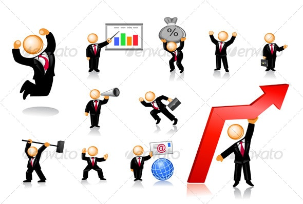 Businessmen Icon Set 2 - People Characters