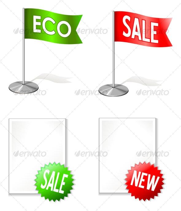 New and Sale labels  - Decorative Symbols Decorative
