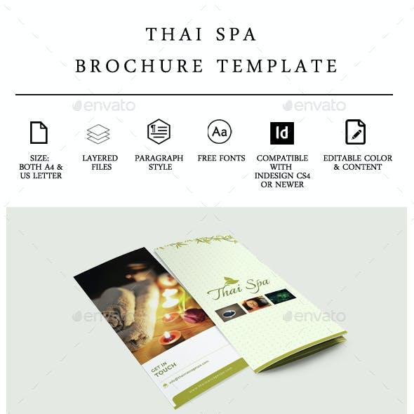 Thai Spa Tri-fold Brochure