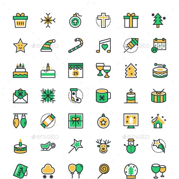 80+ Merry Christmas Vector Icons