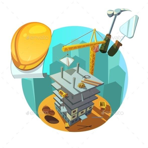 Construction Retro Cartoon