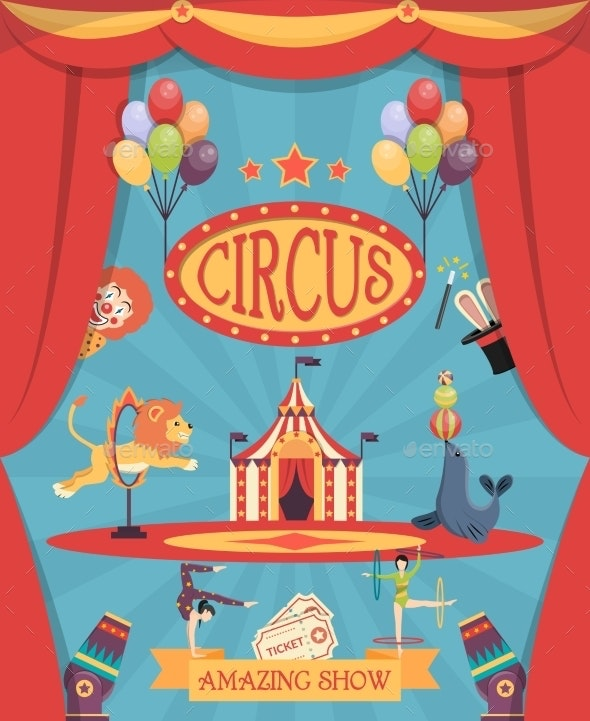 Circus Show Poster - Backgrounds Decorative
