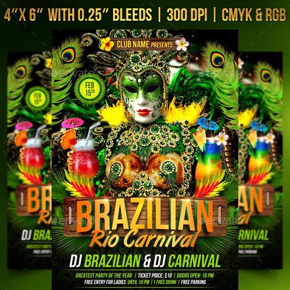 Brazilian Rio Carnival Flyer Template