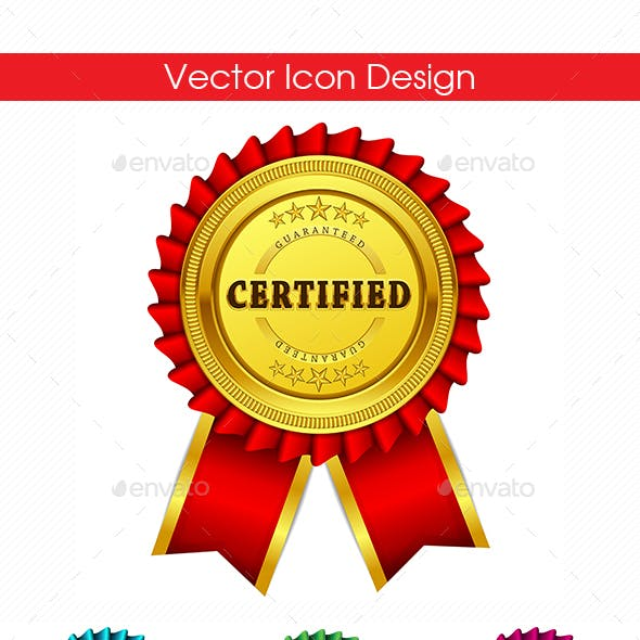 Certified Guaranteed Seal Vector Icon