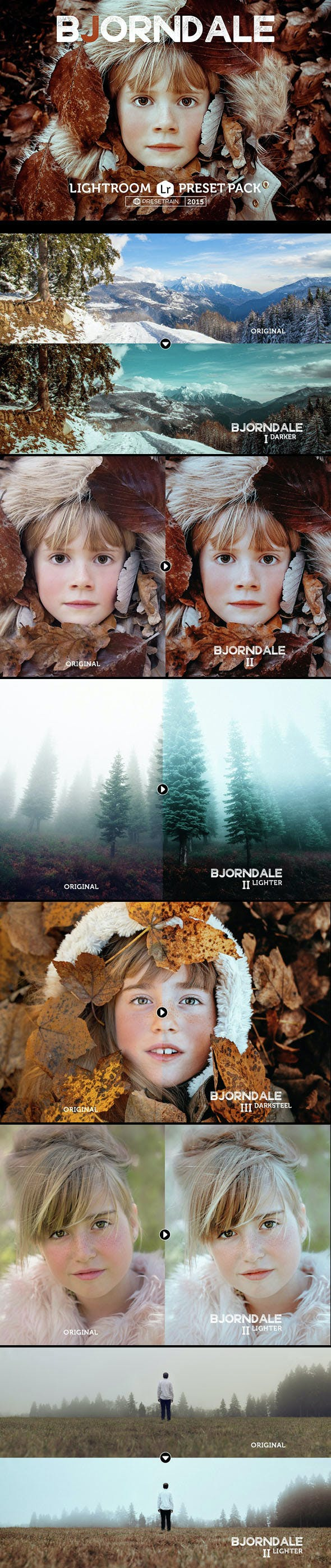 Bjorndale Lightroom Preset Pack - Landscape Lightroom Presets