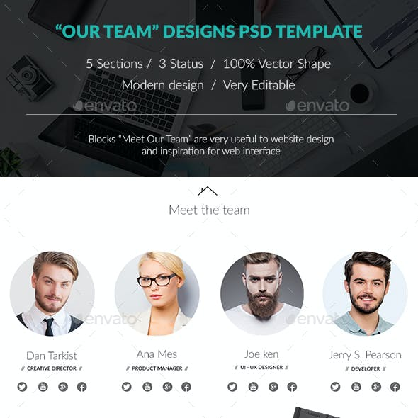 Our Team Designs Psd Template