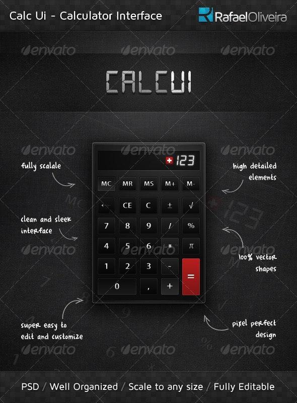 Calc Ui - Miscellaneous Web Elements