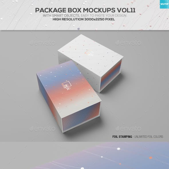 Package Box Mockups Vol11