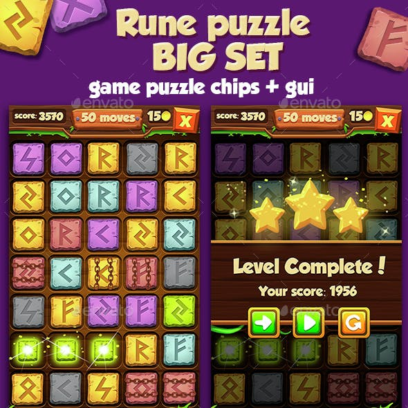 Big Rune Stone Game Set With GUI