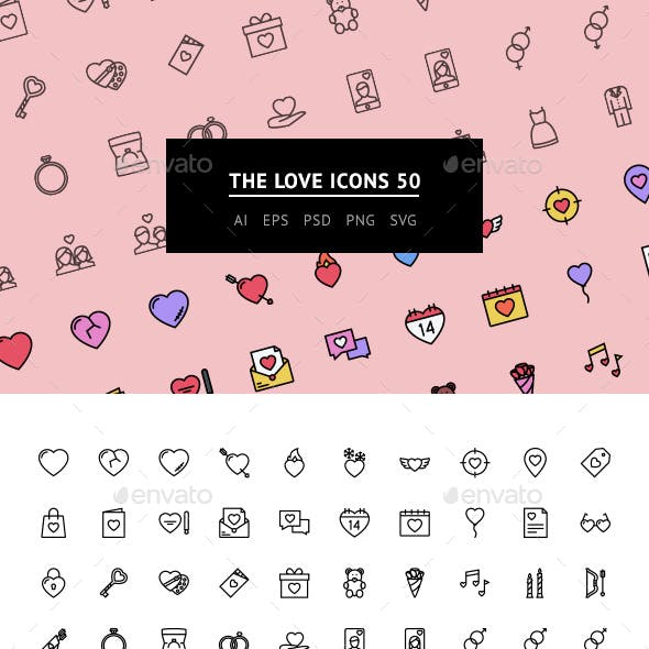The Love Icons 50