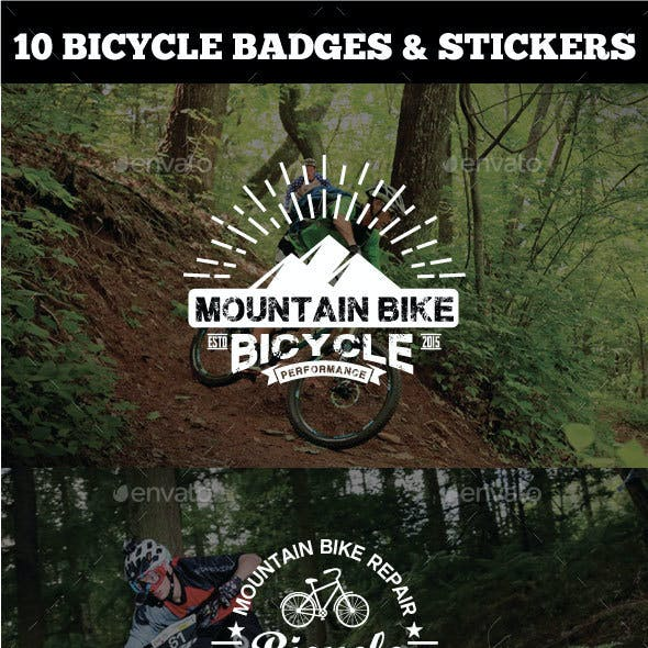 Sport Bicycle Badges & Stickers