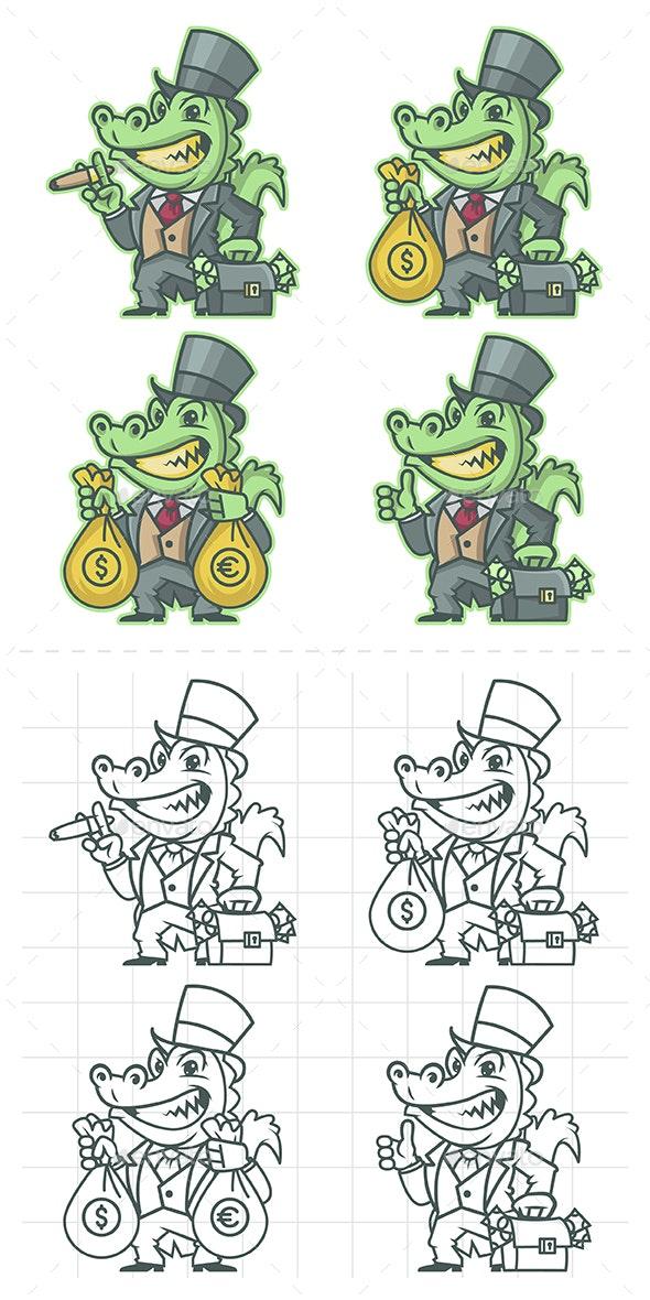 Crocodile Millionaire Banker - Animals Characters