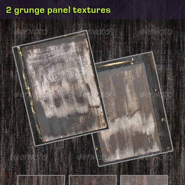 2 Grunge Wood Panel Textures