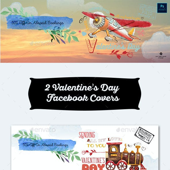 2 Valentine's Day Facebook Covers