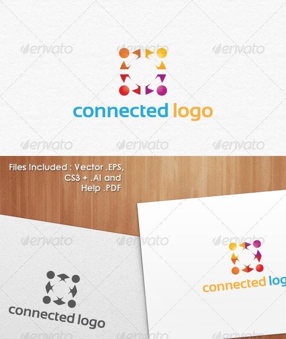 Connected Logo Design Templates - Vector Abstract