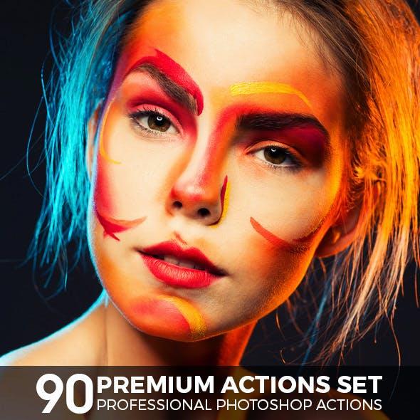 90 Premium Photoshop Actions Set