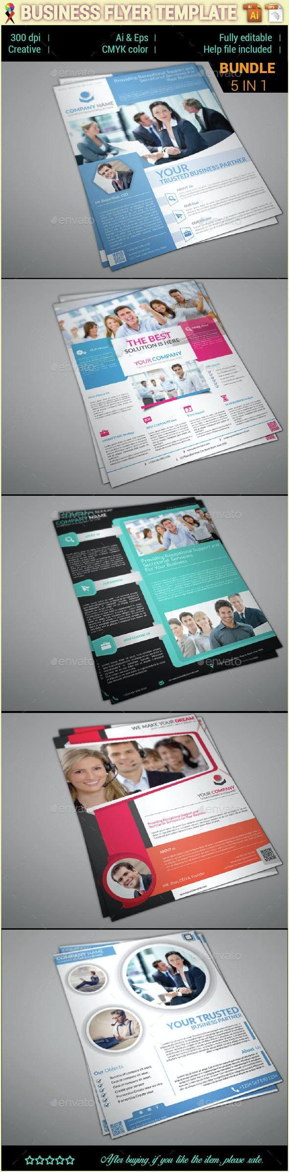 Corporate Business Flyer Template Bundle - Corporate Flyers