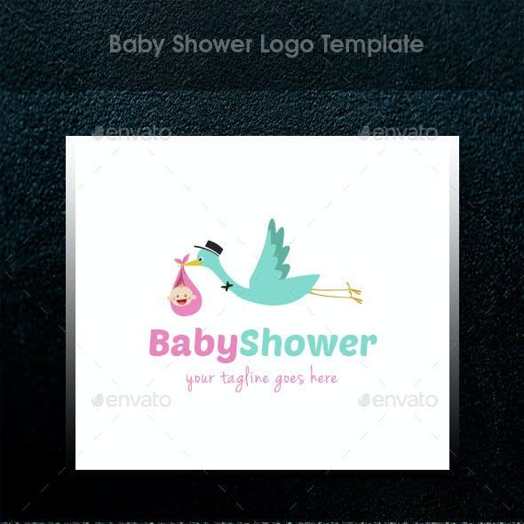 Baby Shower Logo Template