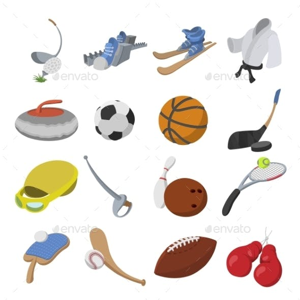 Sport Cartoon Icons