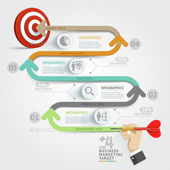 Business Target Marketing Dart Idea. - Infographics
