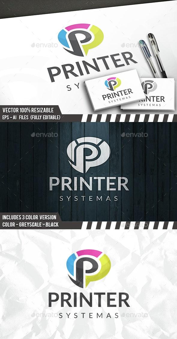ab7639097cd6e Print P Letter Logo