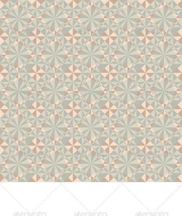 Vector Seamless Pastel Geometric Pattern - Backgrounds Decorative