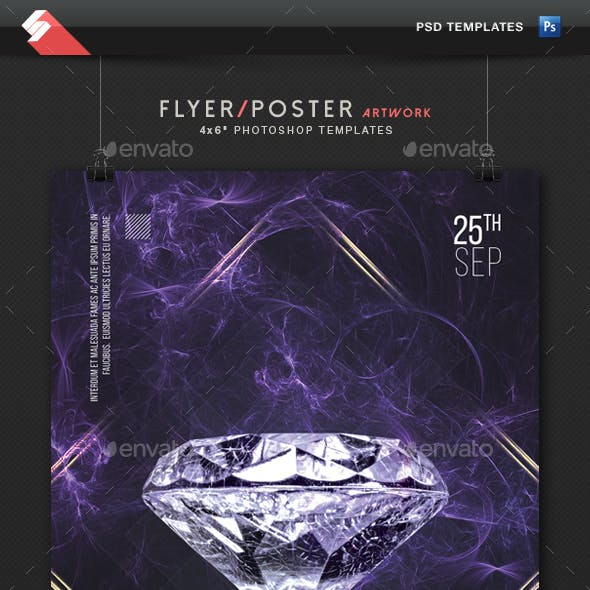 Diamond House - Party Flyer Template