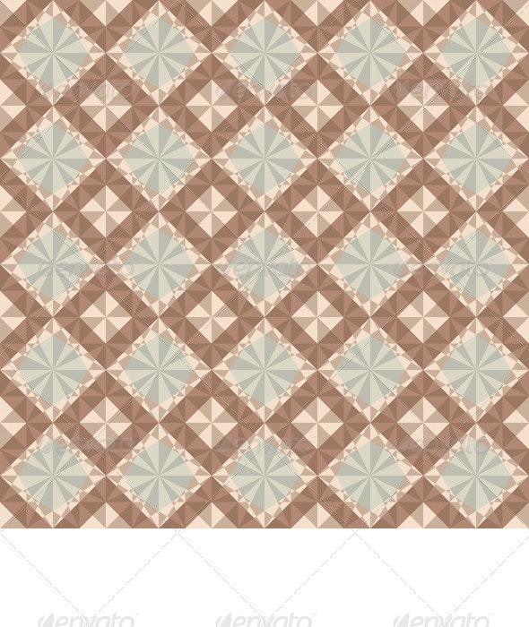 Vector Seamless Brown Geometric Pattern - Backgrounds Decorative