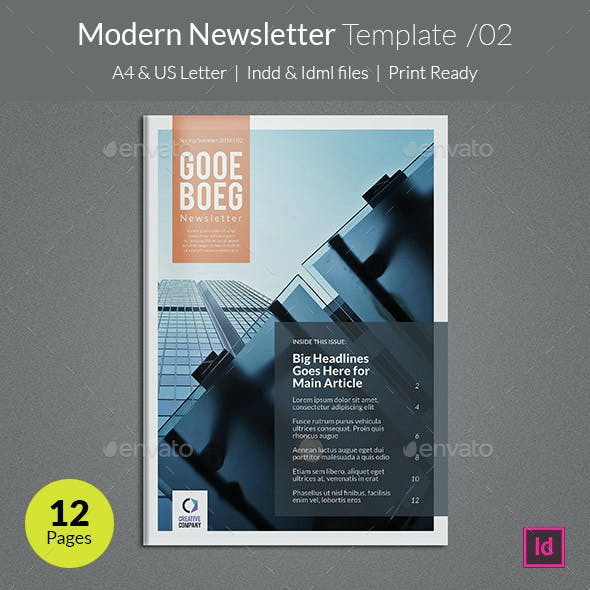 Modern Newsletter Template v02