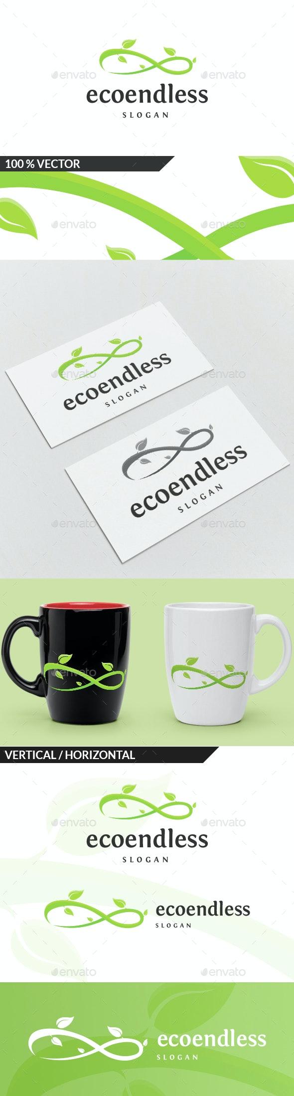 Eco Endless Logo - Nature Logo Templates