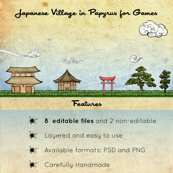 Japanese Village in Papyrus Assets