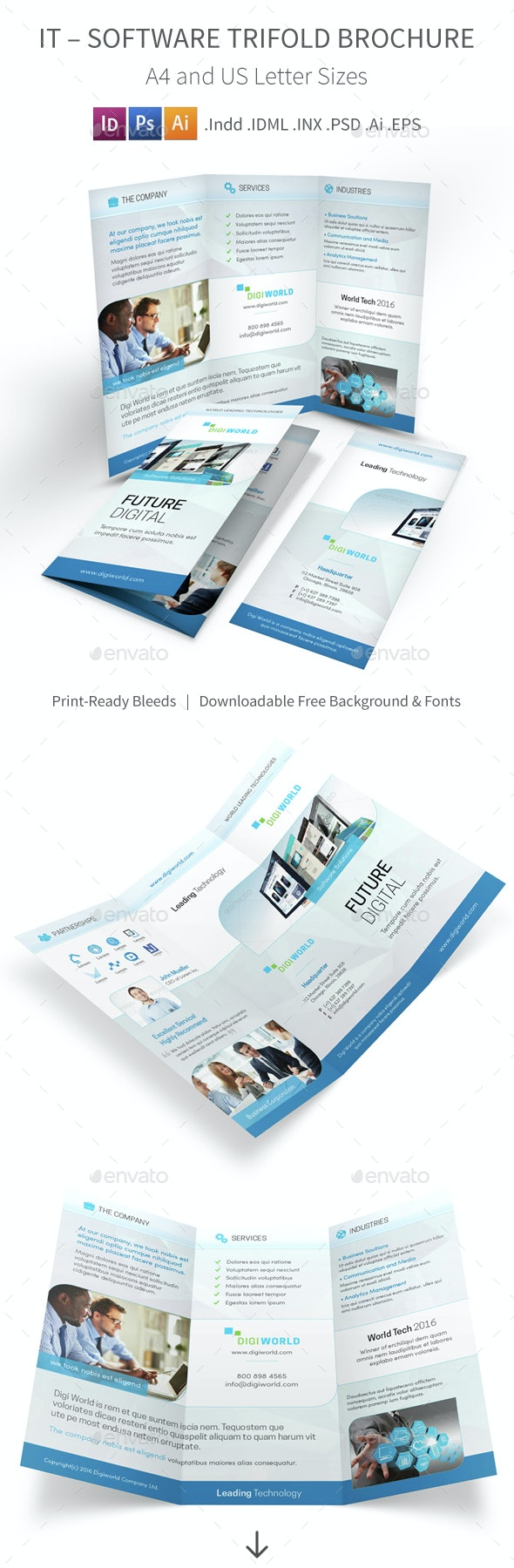 IT – Software Trifold Brochure 4 - Corporate Brochures